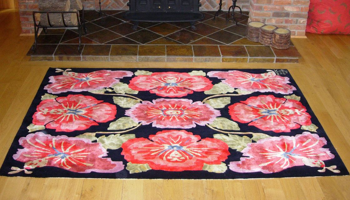 Orchid, a unique rug commission