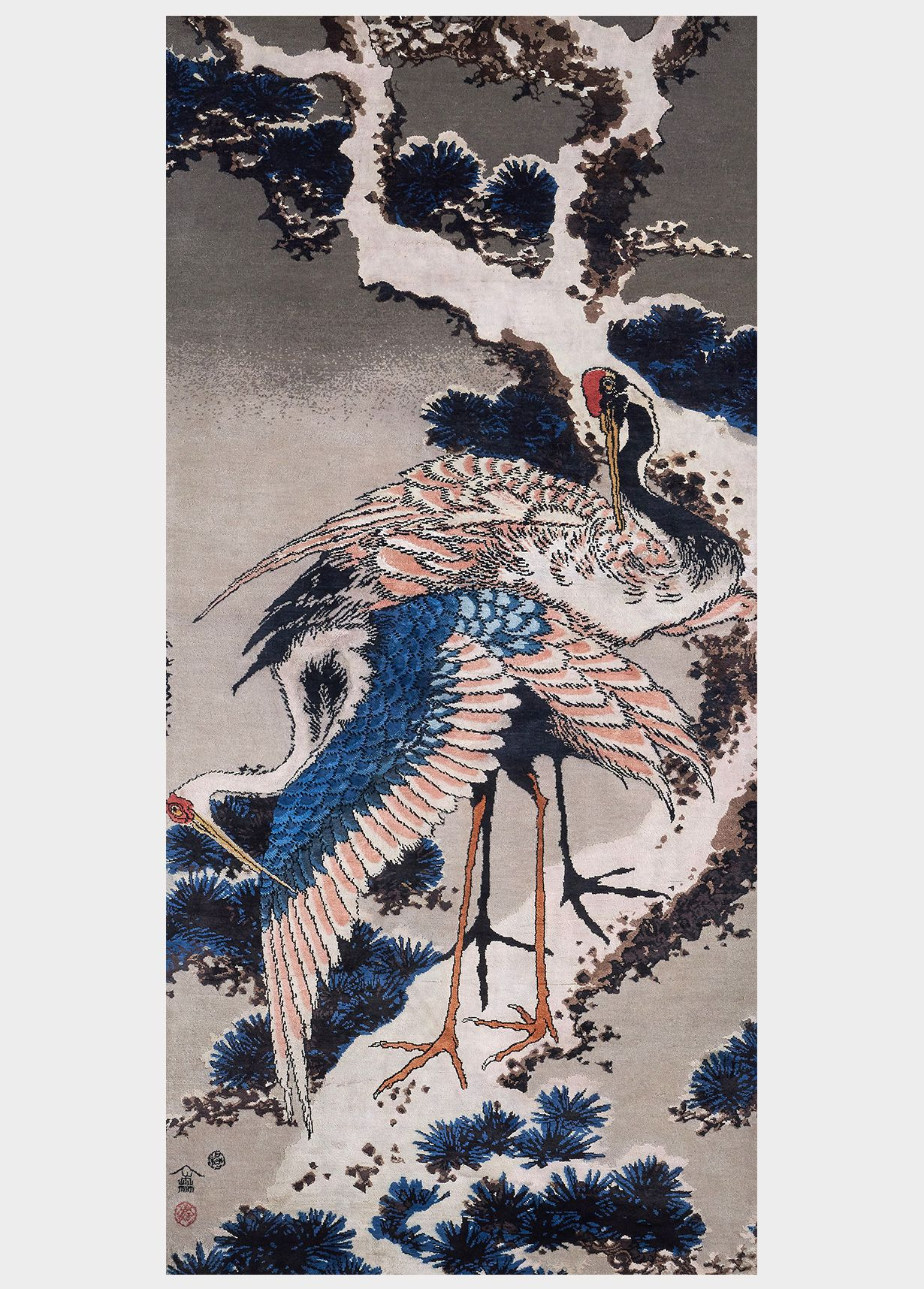 Cranes on a Snowy Pine from the British Museum Collection